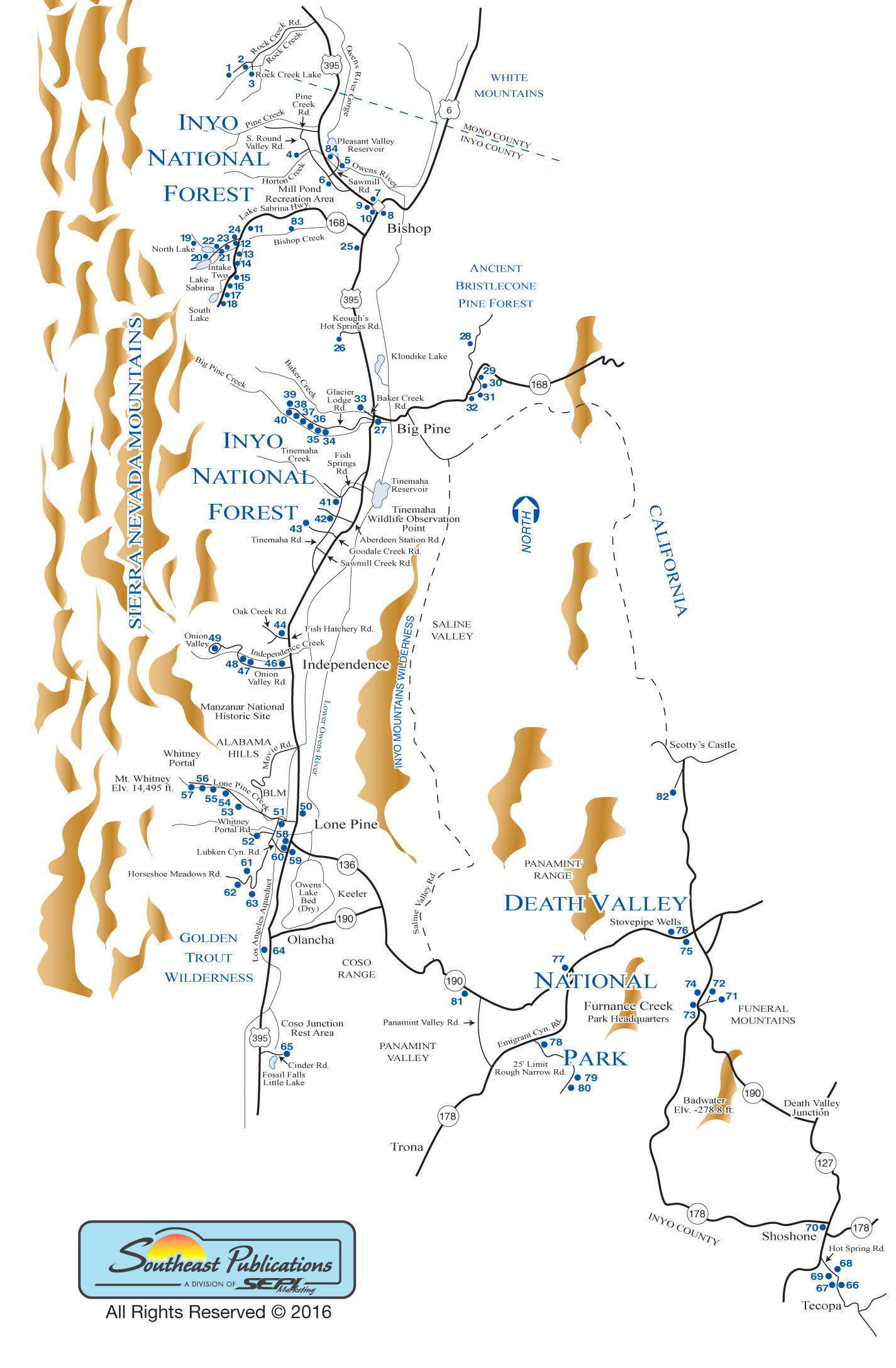 Lone Pine Campground Map