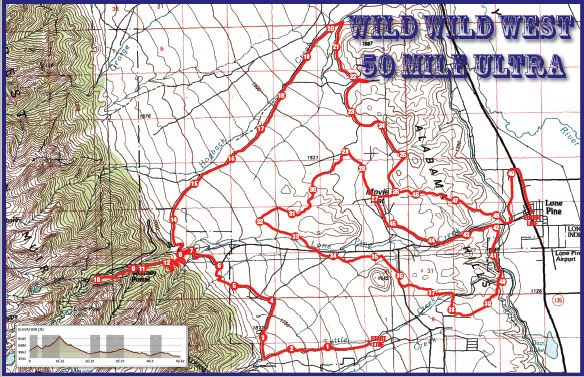 Lone Pine Ultra and Marathon Map