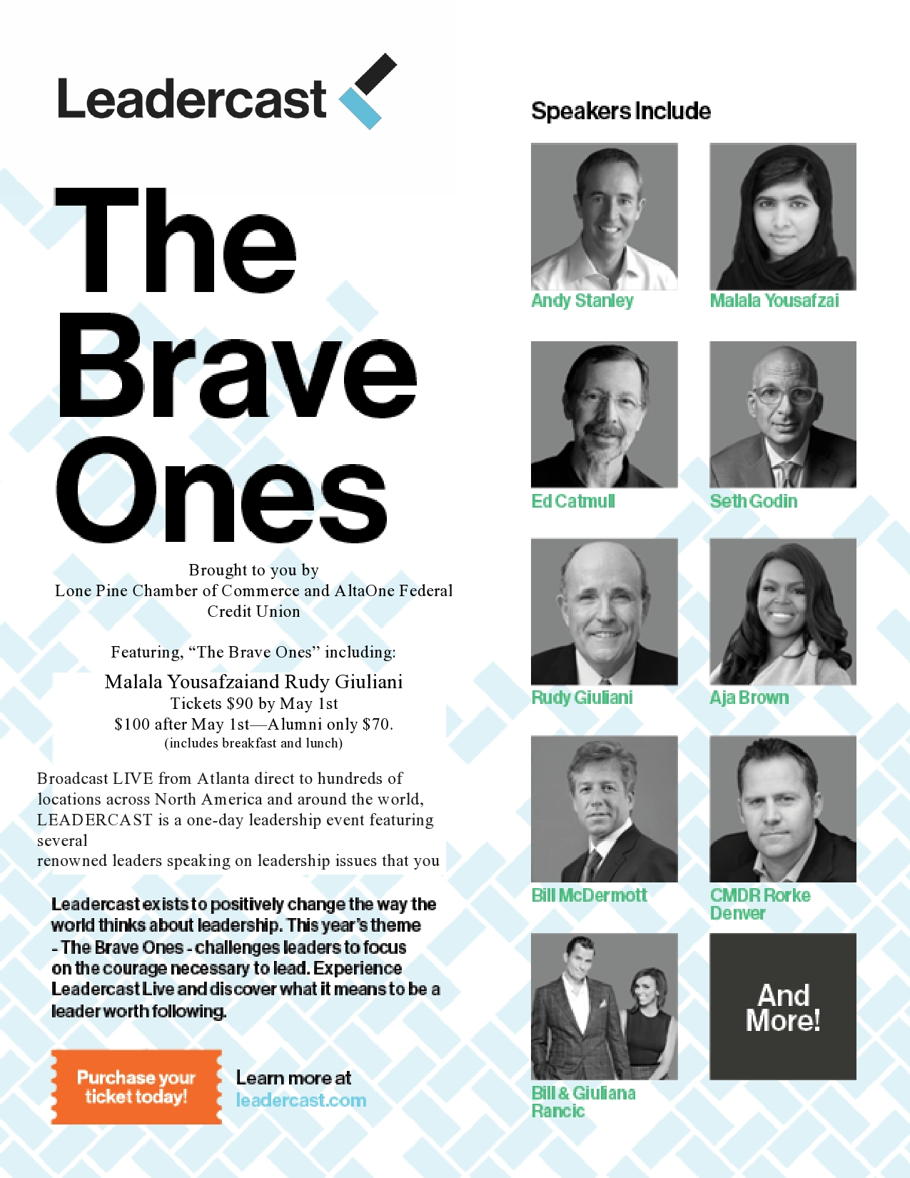 """Leadercast 2015  """"The Brave Ones"""""""